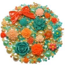 'CORAL DREAMS' Theme Rhinestone and Cabochon Mix
